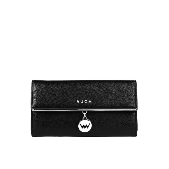 Peňaženka - Ashely, tendency s doplnkami, čierna