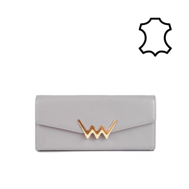Peňaženka - Liona kožená, sivá