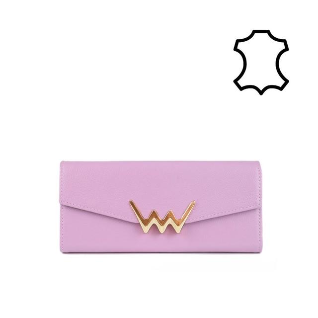 Peňaženka - Rhia kožená, ružová