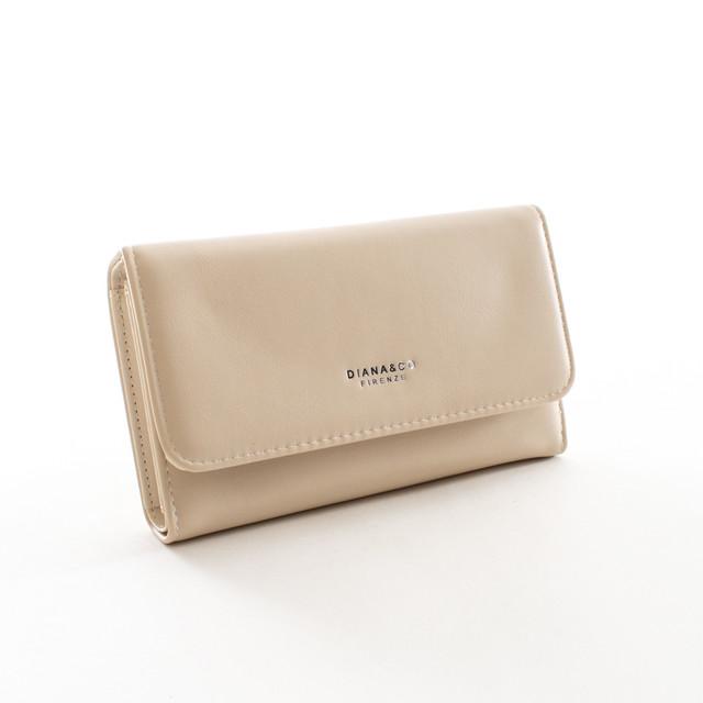 Peňaženka - Diana hladká veľká, béžová