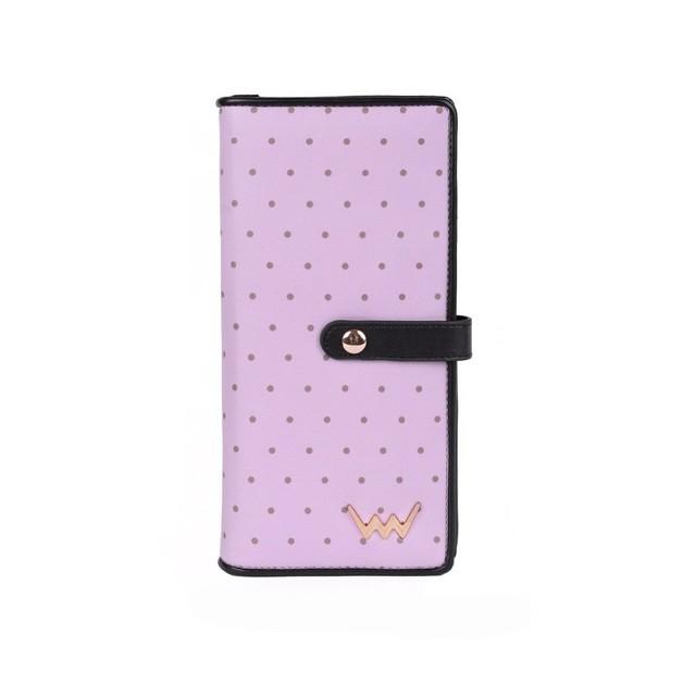 Peňaženka - Violy bodkovaná, fialová