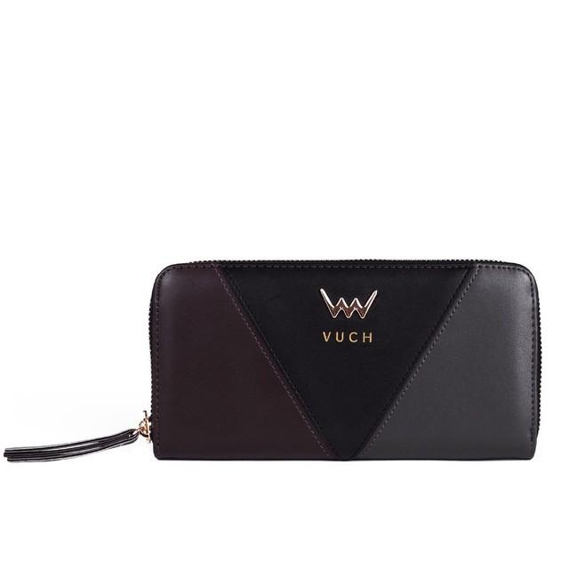 Peňaženka - Victory farebná na zips, čierna