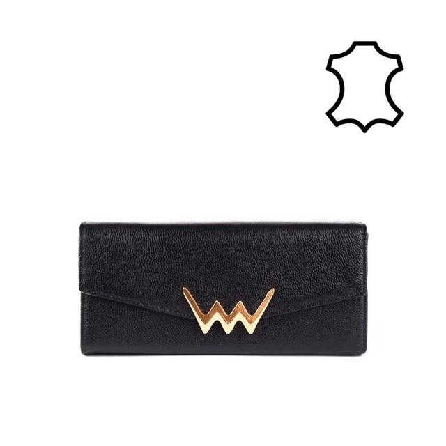 Peňaženka - Torry kožená, čierna