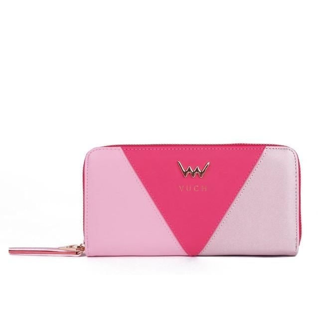 Peňaženka - Bella farebná na zips, ružová
