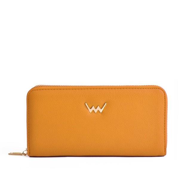 Peňaženka - Angie na zips, žltá