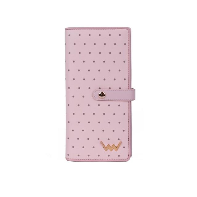 Peňaženka - Cora bodkovaná, ružová
