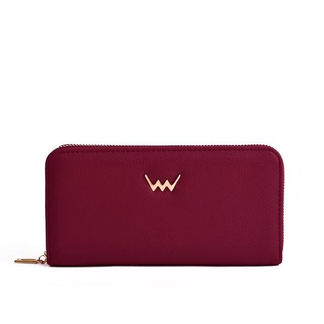 Peňaženka - Violetie Vida na zips, vínová