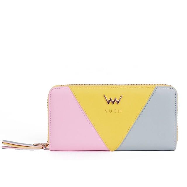 Peňaženka - Arianna farebná na zips, modrá