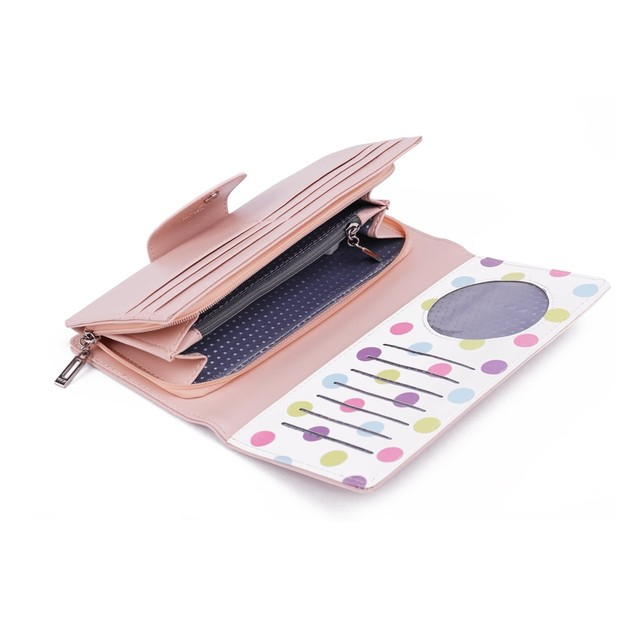 Peňaženka - Mellow s bodkami, ružová