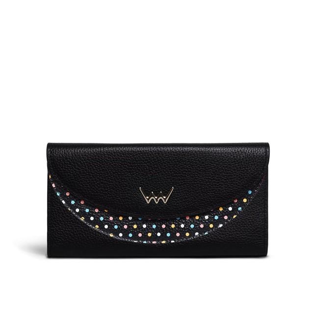 Peňaženka - Babette kožená, čierna