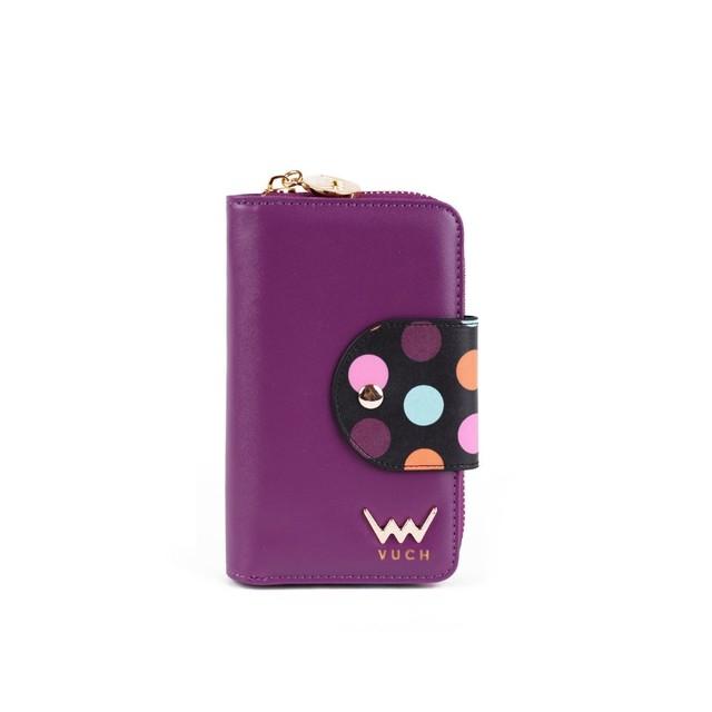 Peňaženka - Larisa s bodkami, fialová