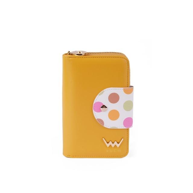 Peňaženka - Vicky s bodkami, žltá