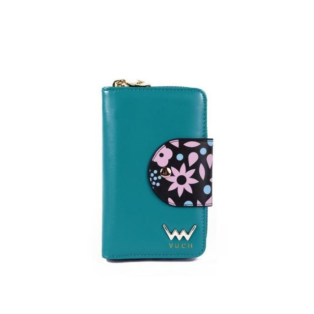 Peňaženka - Rosie s kvetinami, tyrkysová