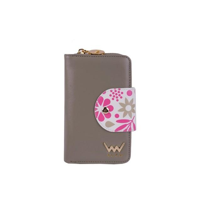 Peňaženka - Lola s kvetinami, hnedá