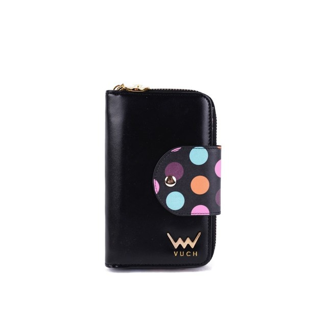 Peňaženka - Marly s bodkami, čierna