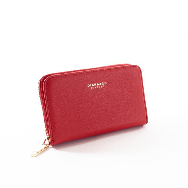 Peňaženka - stredná elegantná Diana, červená
