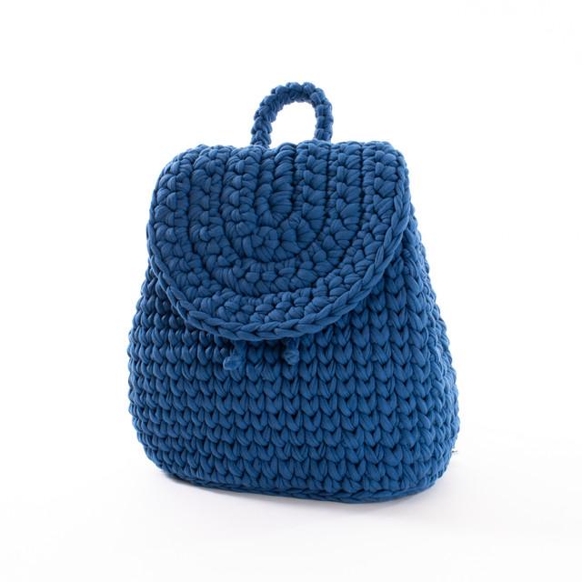 Batoh - háčkovaný modrý