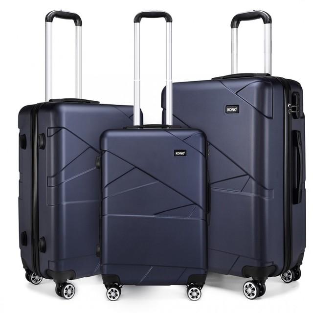 Set kufrov - matný tmavomodrý