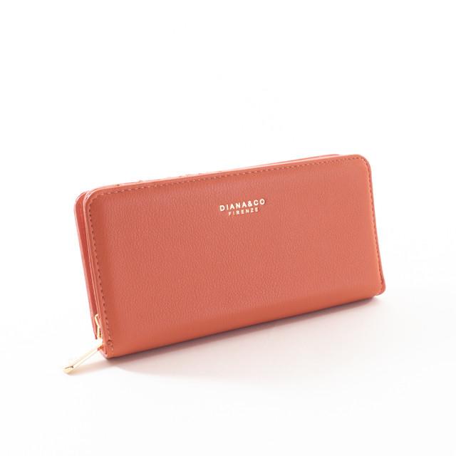 Peňaženka - elegantná Diana, broskyňová