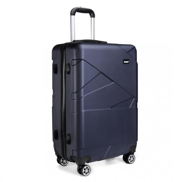 Kufor - travel matný veľký tmavomodrý