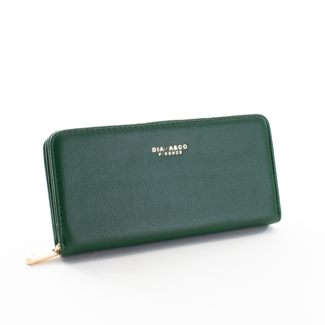 Peňaženka - Diana elegantná, praktická, zelená