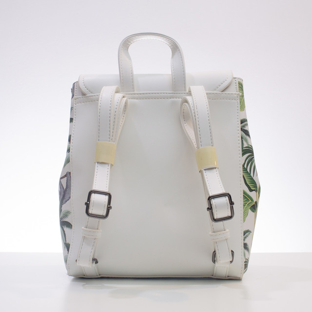Batoh - Nobo s potlačou tropic biely