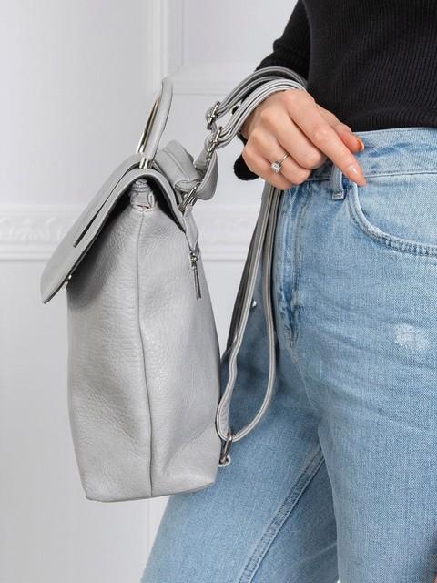 Batoh - na rameno, koženkový, sivý