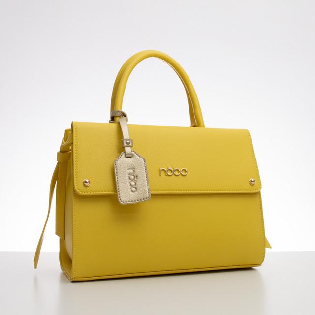 Kabelka - grab elegantná Nobo žltá