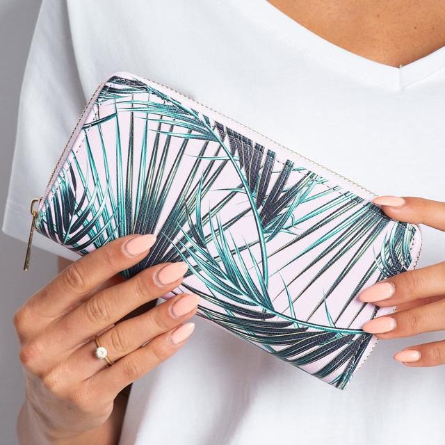 Peňaženka - palmová ružová