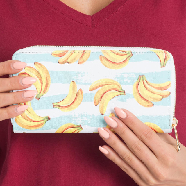 Peňaženka - s banánmi modrá