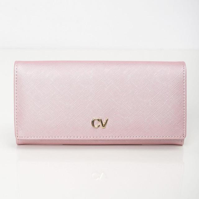 Peňaženka - saffiano na cvok, ružová