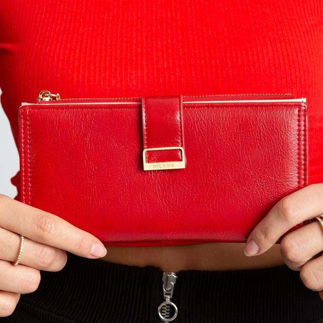 Peňaženka - koženková dámska Milano červená