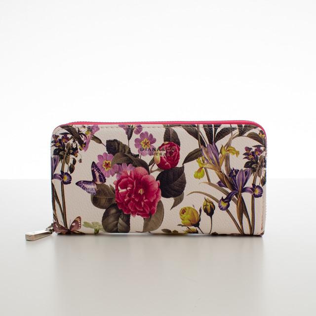 Peňaženka - letné kvety, fuchsia