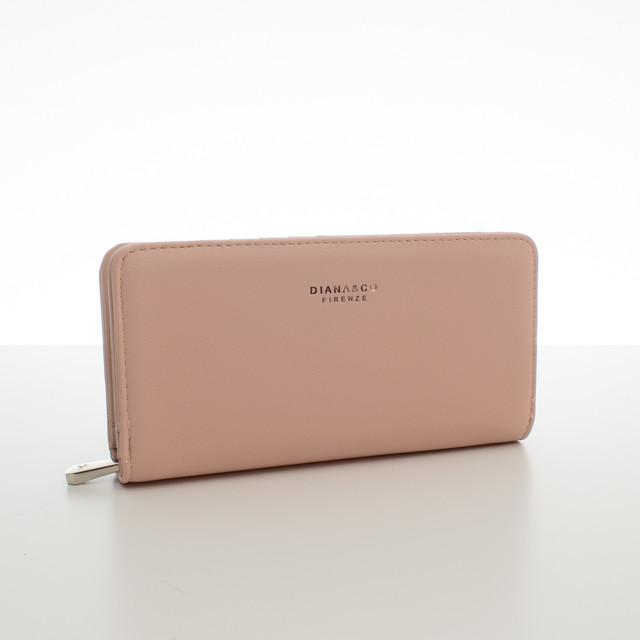 Peňaženka - elegantná Diana do kabelky, ružová