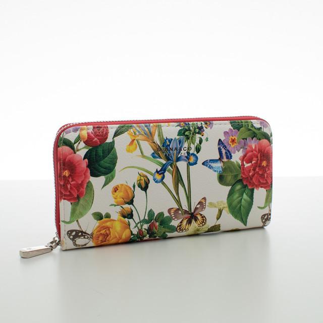 Peňaženka - letné kvety, červená