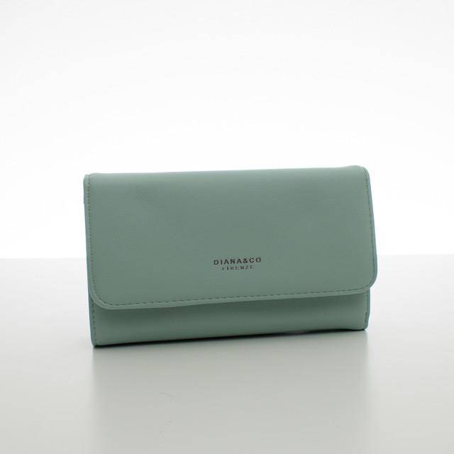 Peňaženka - dámska Diana koženková, bledomodrá
