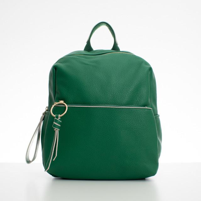 Ruksak - koženkový s doplnkami Diana, zelený