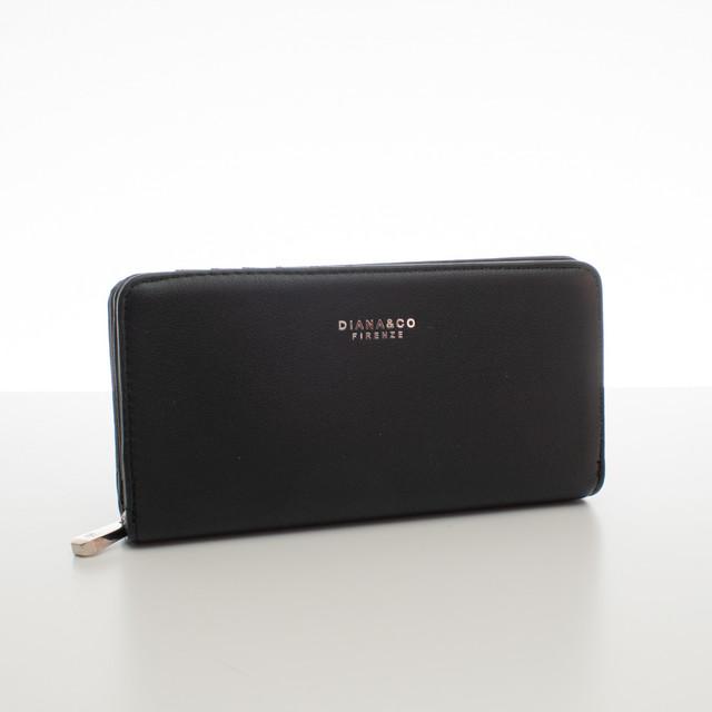 Peňaženka - elegantná Diana do kabelky, čierna