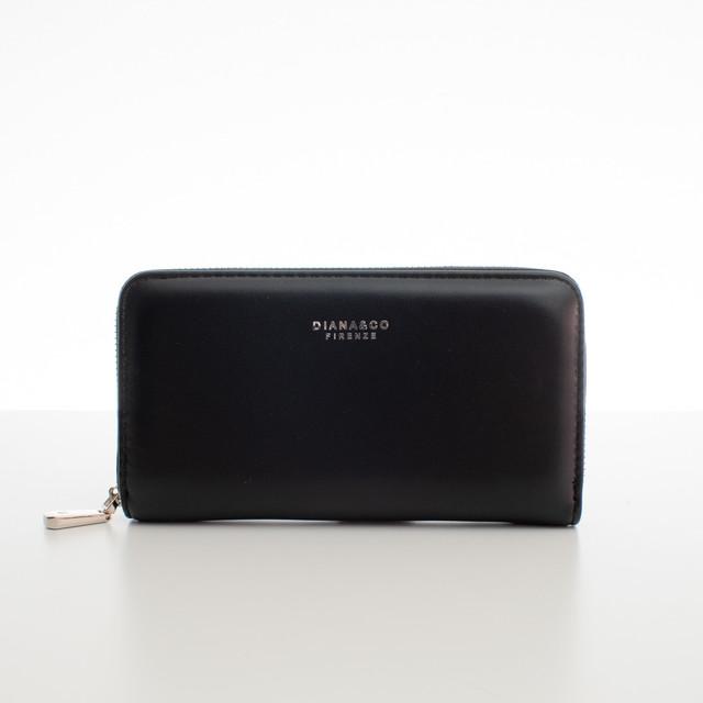 Peňaženka - koženková hladká Diana, čierna