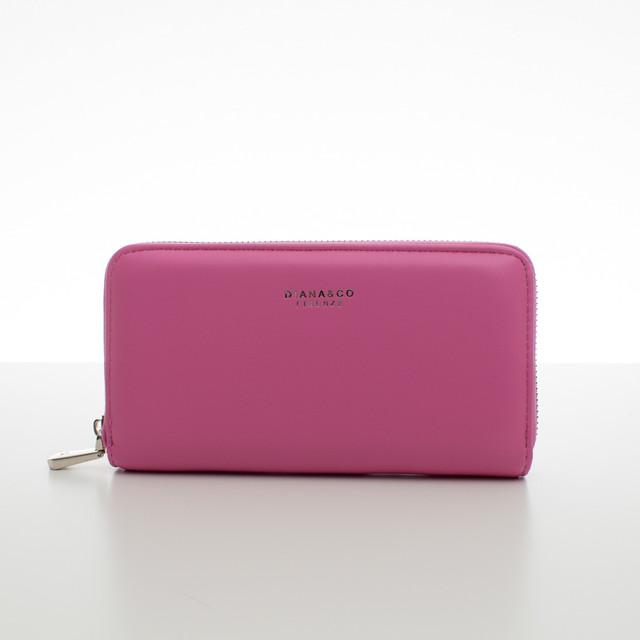 Peňaženka - koženková hladká Diana, fuchsia