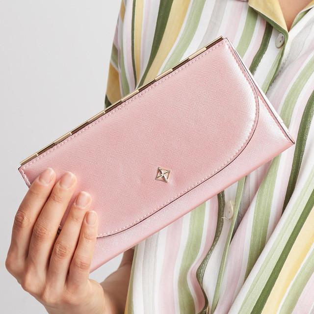 Peňaženka - tenká Milano design saffiano ružová