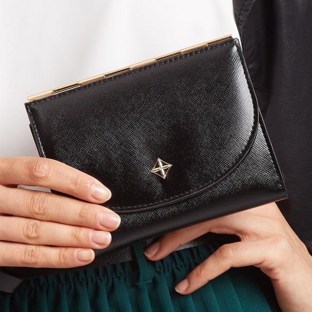 Peňaženka - tenká stredná Milano design čierna
