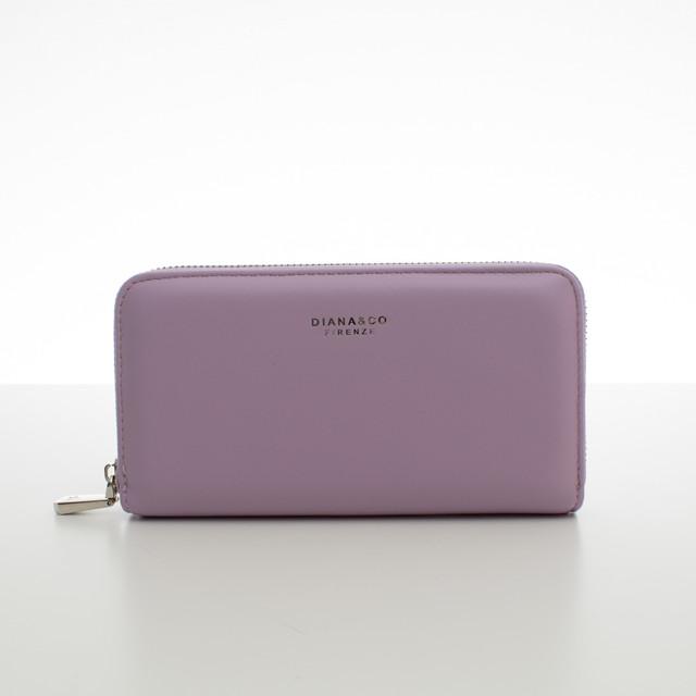 Peňaženka - koženková hladká Diana, fialová