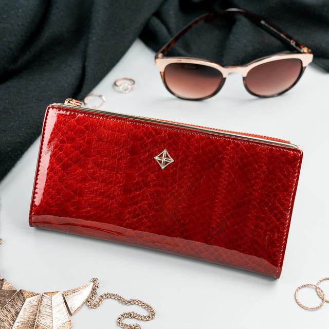 Peňaženka - dámska Milano design koženková, tmavočervená