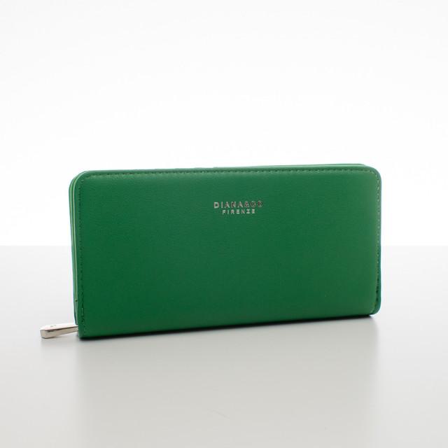 Peňaženka - elegantná Diana do kabelky, zelená