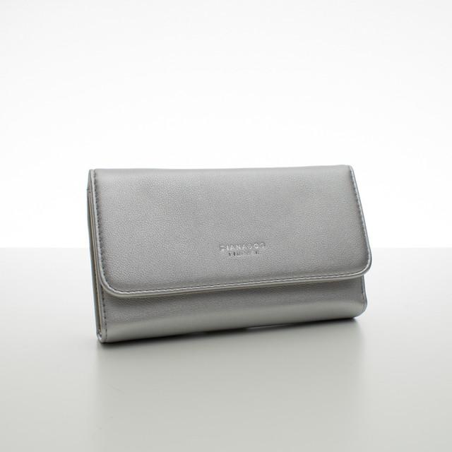 Peňaženka - dámska Diana koženková, strieborná