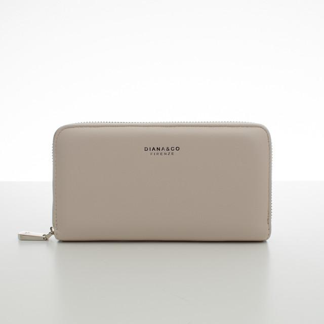 Peňaženka - koženková hladká Diana, béžová