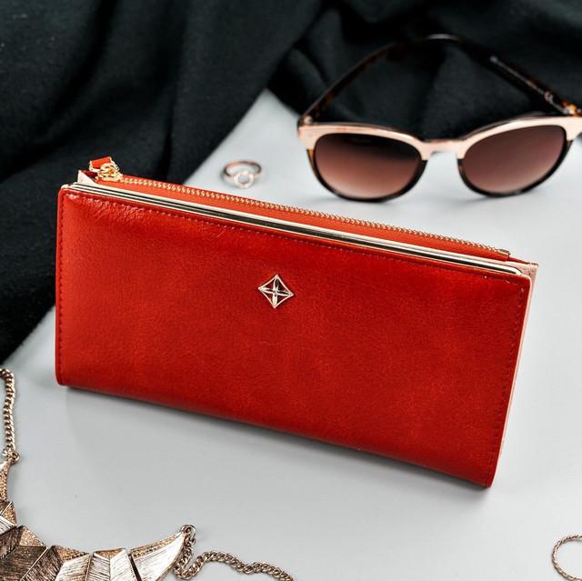 Peňaženka - dámska Milano design koženková, červená