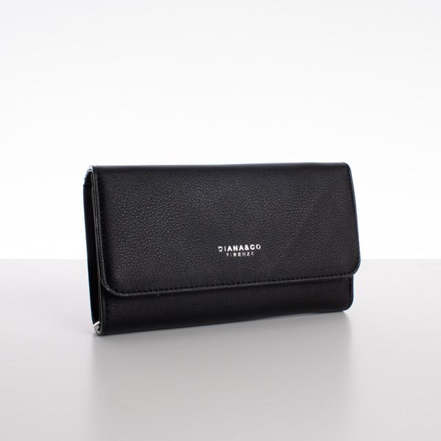 Peňaženka - veľká s cvokom Diana, čierna