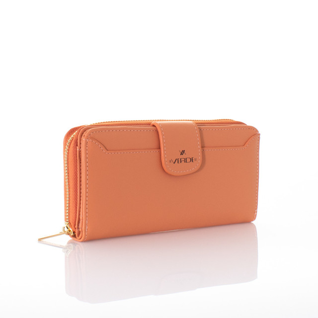 Peňaženka - koženková Verde oranžová